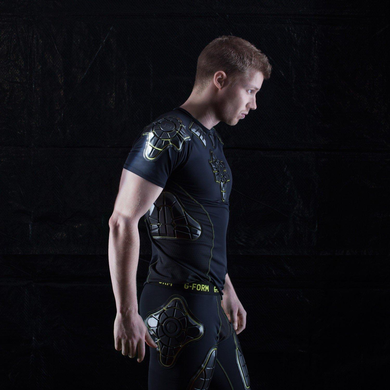 G-Form Pro-X Short Sleeve Compression Shirt, Black/Yellow, Medium by G-Form (Image #2)