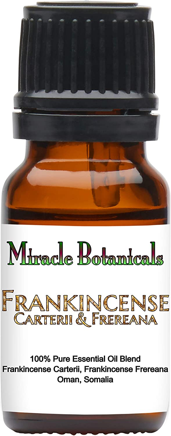 Miracle Botanicals Frankincense Carterii and Frereana Essential Oil - Therapeutic Grade - 10ml