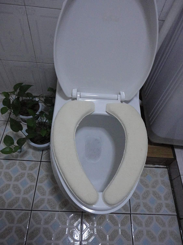 LanDream Toilet Cushion Toilet Cushion Geometric Pattern Bathmats Three Piece Toilet Mat Bath Mat,H