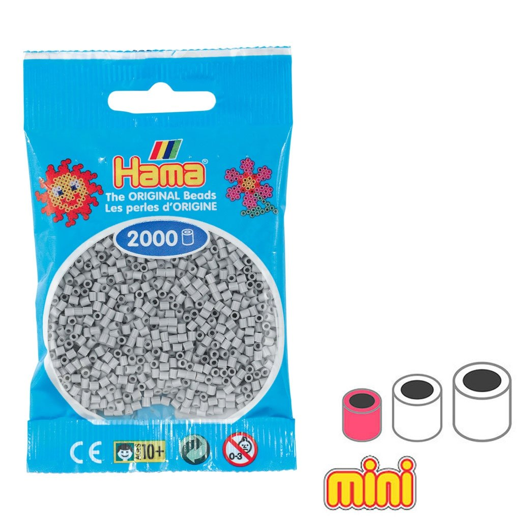 Hama Cuentas Beads Mini Gris Claro (n°70) x2000