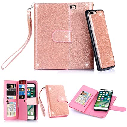 Amazon.com: Funda para iPhone 7 Plus, TabPow 10 ranuras para ...