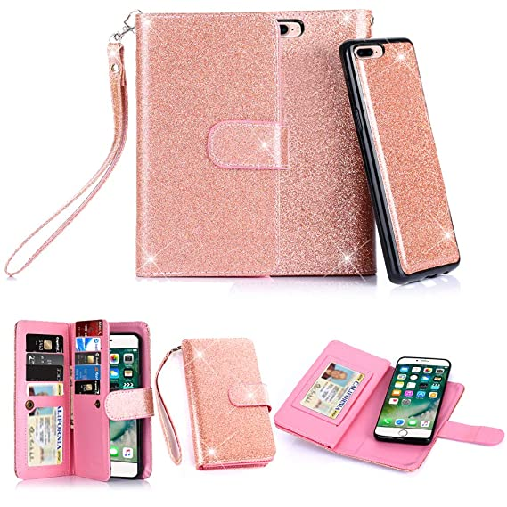 Iphone 7 Plus Case Iphone 8 Plus Casetabpow 10 Card Slot Id Slot Wallet Folio Pu Leather Case Cover With Detachable Magnetic Hard Case For