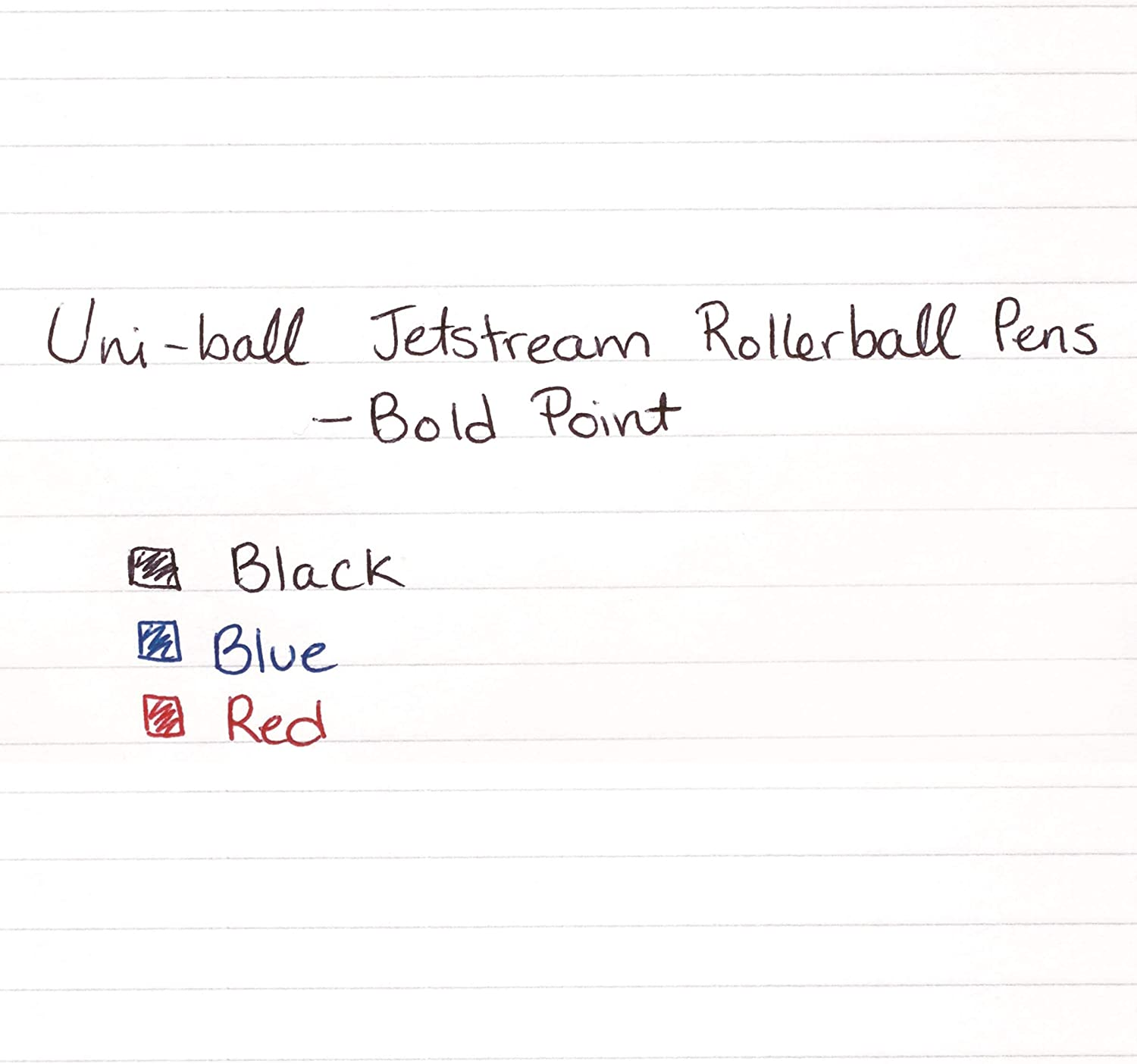 Uni-Ball 73832 uni-ball Jetstream RT Ballpoint Pens, Bold Point (1.0mm), Black, 12 Count : Rollerball Pens : Office Products