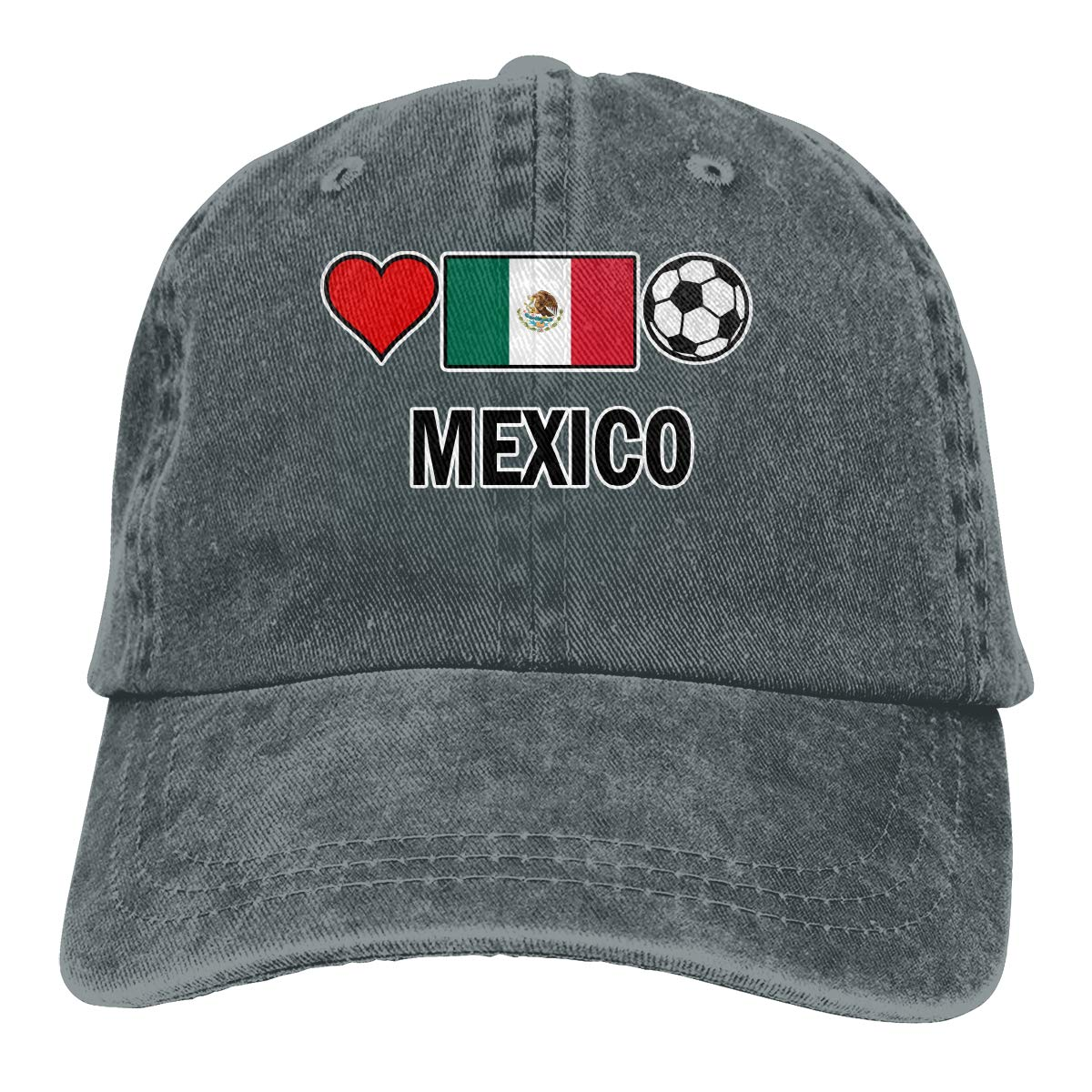 Kunming~ Mexico Football Soccer-1 Men Adult Cap Adjustable Cowboys Hats