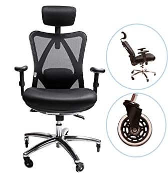 Amazon.com : Sleekform Ergonomic Adjustable Office Chair With Lumbar ...