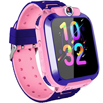 Reloj Inteligente para Niños Niñas,Impermeable Kids Smartwatch con Cámara GPS Tracker SOS Alarma Juego para Los Niños de 3 a 12 años Regalo de ...