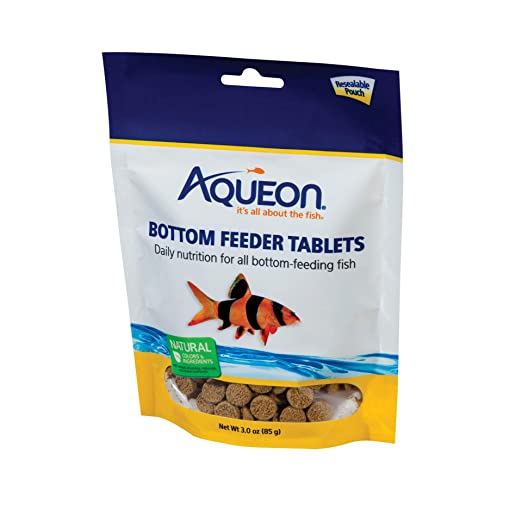 Amazon Com Aqueon Bottom Feeder Fish Food Tablets 3 Ounce Pouch