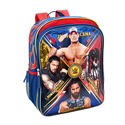 WWE 16 inch Backpack with Side Mesh Pockets: Clothing