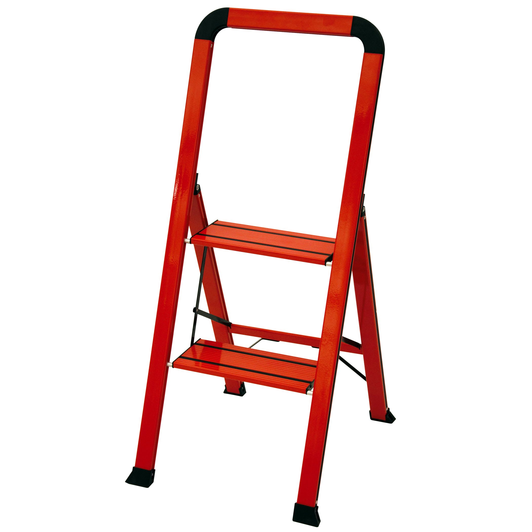 Ascent ADS2-001-RD Series Aluminum 2 Designer Step Stool, Red