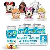 good2grow Organic Minnie and Disney Princess Rotating Character 6pk Low Sugar Fruit Fusion Juice, 6oz-Spill-proof Character T