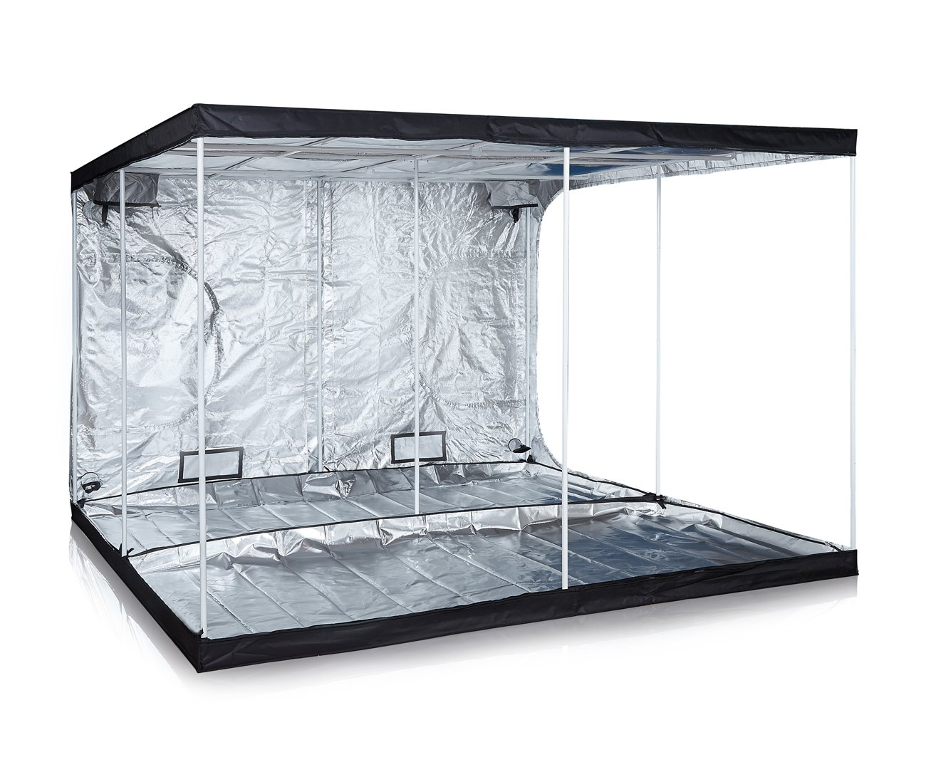 Anjeet 120''x120''x80'' 48''x48''x80'' 24''x24''x56'' Reflective Mylar Hydroponic Grow Tent for Indoor Plant Growing Non Toxic Hut (120''x120''x80'')