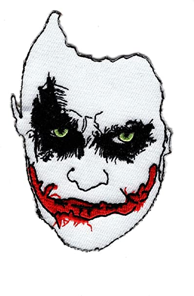"Batman comics joker fabric applique iron on 3/"" inch"