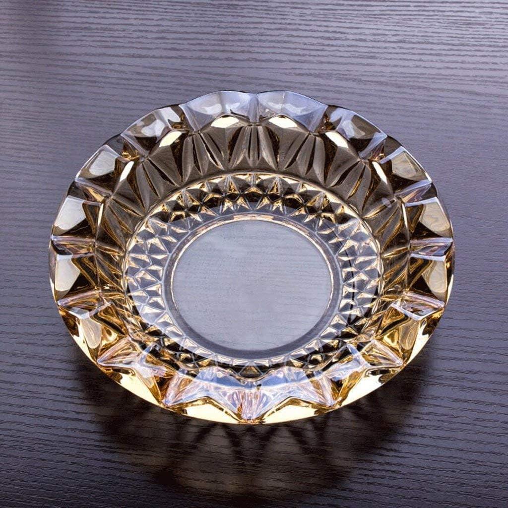 葉巻灰皿, 金色の結晶が並んで灰皿ガラス