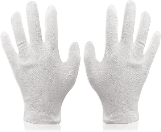 Foxnovo - 8 pares de guantes de algodón suave para trabajo ...