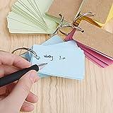 FJSM 6 Pack (300pcs) Colored Index Cards Mini Blank