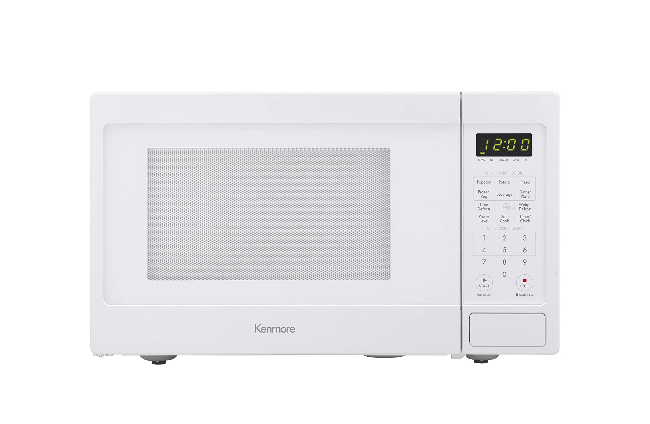 Kenmore White 70912 Countertop Microwave, 0.9 cu. ft by Kenmore