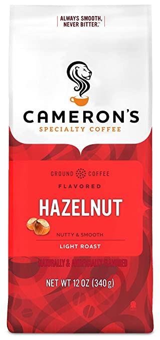 ihocon: Cameron's Coffee Roasted Ground Coffee Bag, Flavored, Hazelnut, 12 Ounce 研磨咖啡