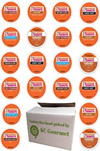 Variety pack of Dunkin Donuts Coffee K Cups for All Keurig K Cup Brewers - (6 flavors, NO DECAF, 4 K cups each flavor, Total of 24 K Cups)