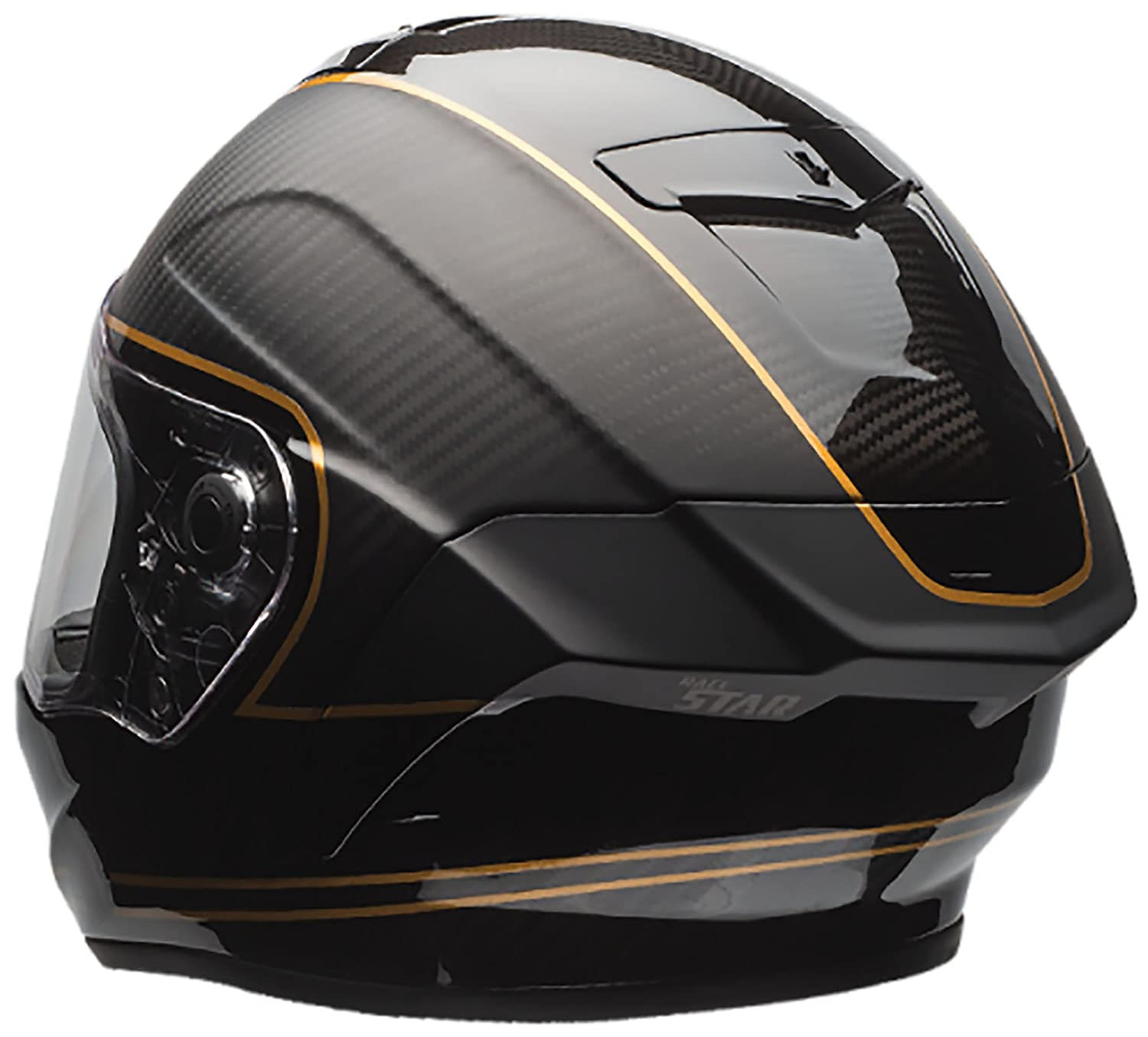 ab1b36c8 Amazon.com: Bell Race Star Full-Face Motorcycle Helmet (Ace Cafe Speed  Check Matte Black/Gold, Small): Automotive