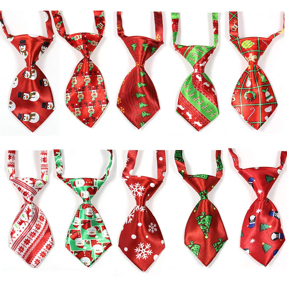 100pcs Christmas Pet Supplies Pet Dog Cat Xmas Neckties Bowties Santa Deer Pet Dog Grooming Accessories Small-Middle Dog Ties