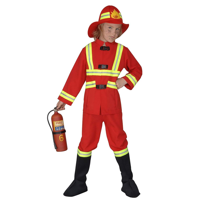 WIDMANN 55707 - Niño traje de bombero, túnica, pantalones, la ...