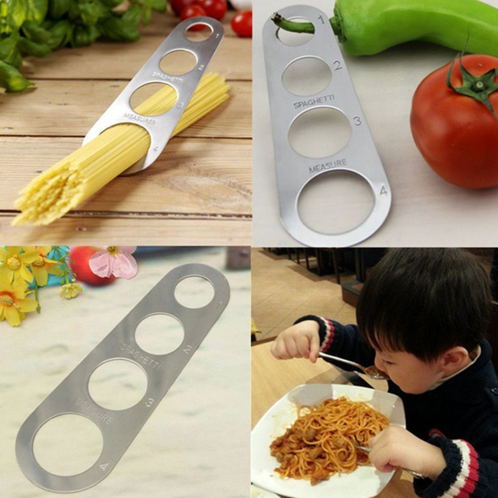 Stainless Steel Spaghetti Measure Measurer,Stainless Steel Spaghetti Pasta Measure Tool,4 Serving Portion Control Cooking Tools,Pasta Portion Control Gadgets(silver) by YOTHG (Image #5)