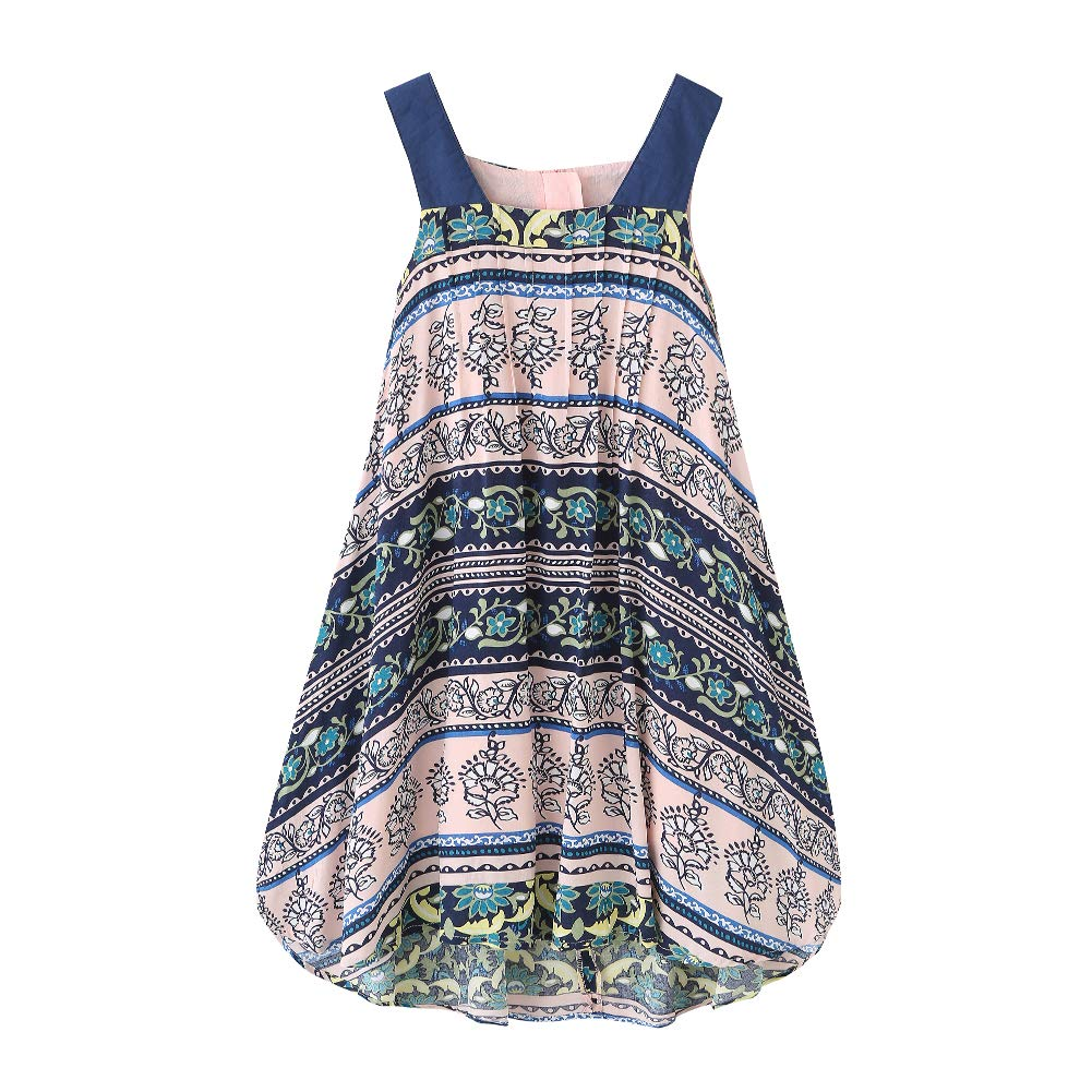 BFRMLY Summer Bohemian Tribal Ethnic Dresses for Little Girls Short Front Long Back Toddler Kids 3 4 5 6 12 Years Old