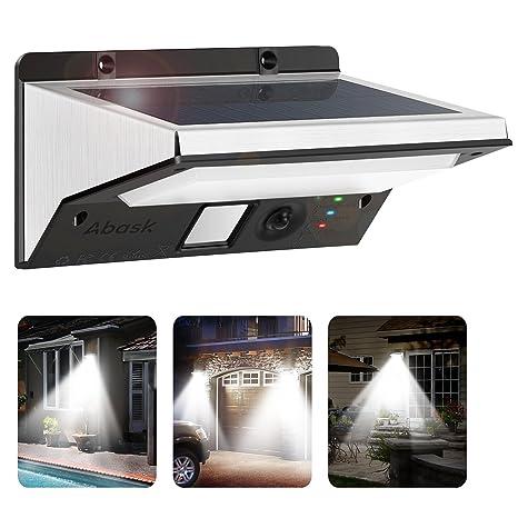 Beau Solar Lights Outdoor, Abask Solar Motion Sensor Security Lights, 21 LED 3 In
