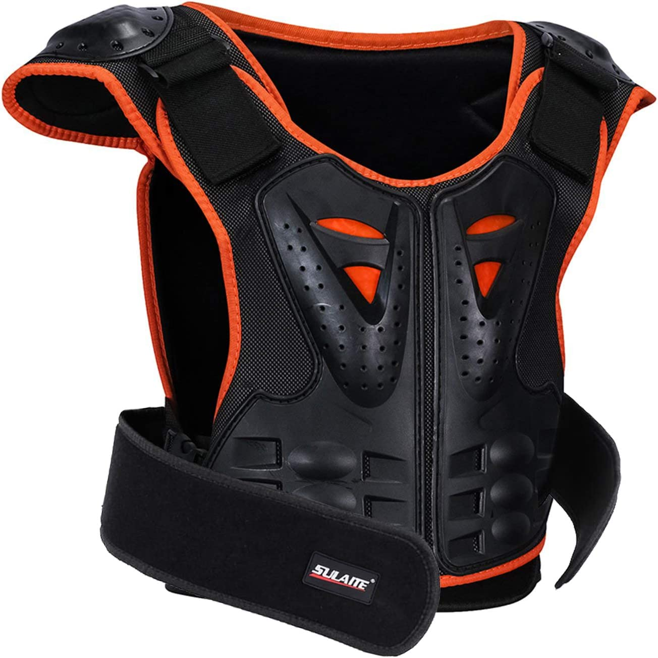 GuTe Kids Bike Chest Protector, Sport Motocross Skiing Armor Vest Spine Protective Gear