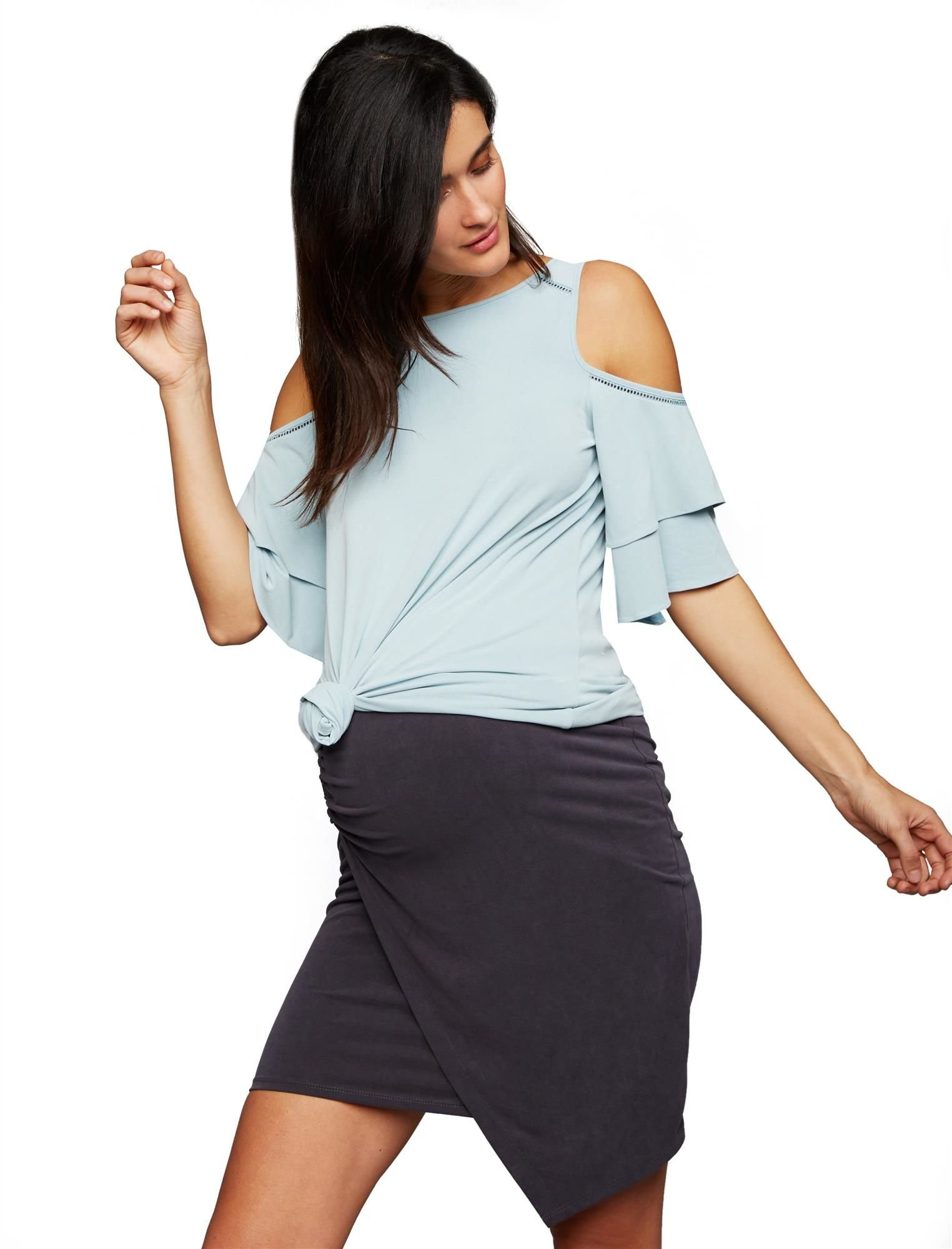 A Pea in the Pod Pull On Style Pencil Fit Maternity Skirt