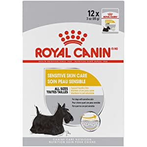 Royal Canin Canine Care Nutrition Sensitive Skin Care Loaf in Gravy Dog Food, 3 Ounce Pouch (Pack of 12)