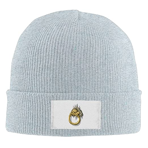 ff9f6701119 Men Women Sloth knocker Warm Stretchy Knit Wool Beanie Hat Solid Daily  Skull Cap Outdoor Winter