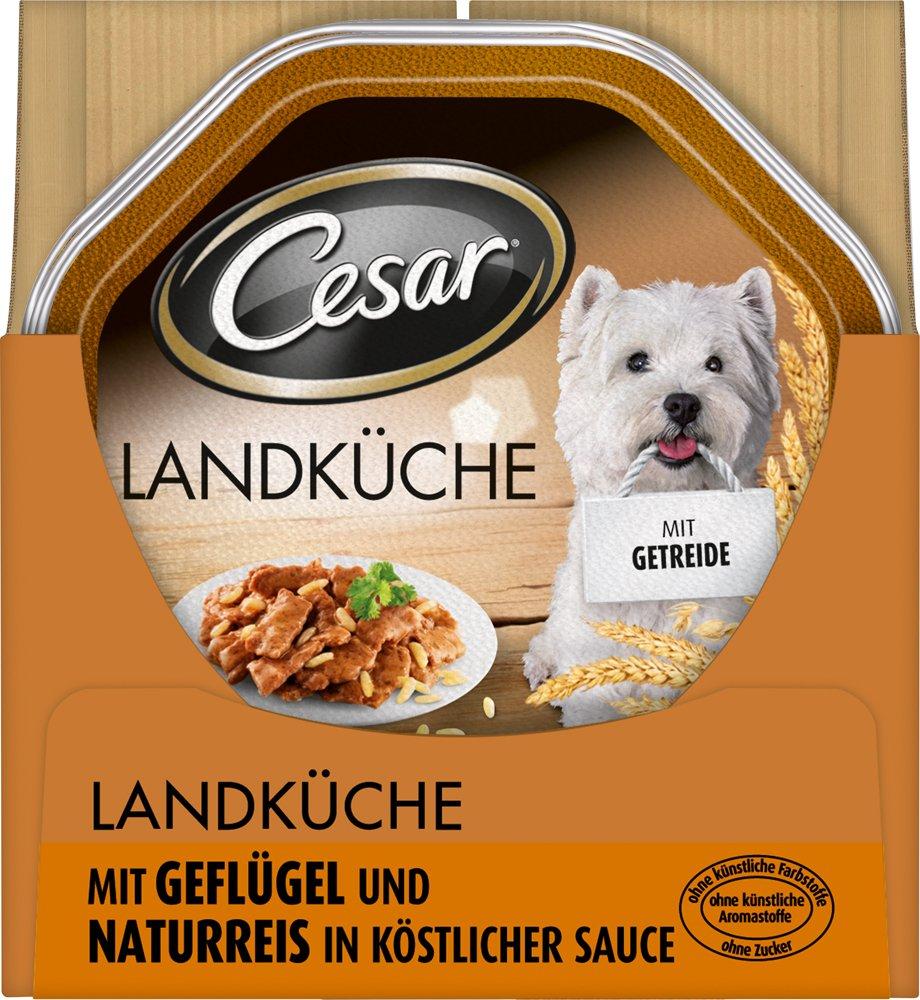Cesar Landküche Hundefutter Geflügel und Naturreis in köstlicher ...