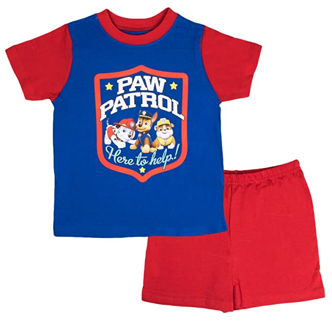 Nickelodeon - Pijama dos piezas - Manga corta - para niño azul Paw Patrol - Here To Help! 4-5 Años: Amazon.es: Ropa y accesorios