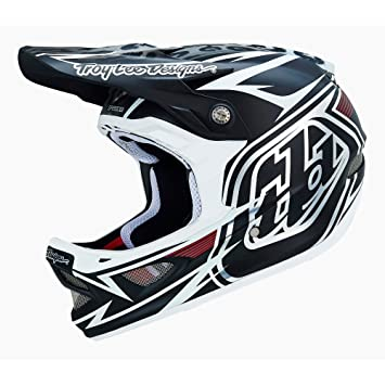 Troy Lee Designs D3 Speeda - Casco de ciclismo BMX integral, color blanco, talla