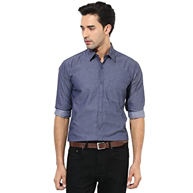 The Vanca Mens Casual Shirt For Smart Party Wear Shirt Grey Color
