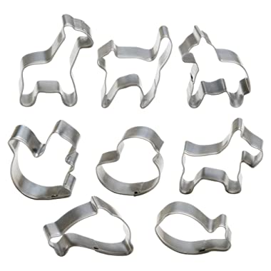 StarPack Premium Mini Animal Cookie Cutters including Goldfish Cookie Cutter, FDA Grade Stainless Steel, Great for Cooking with Kids