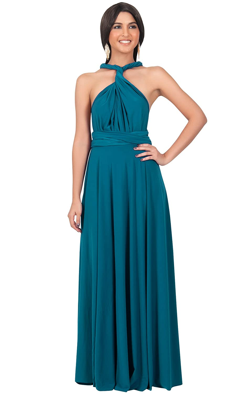 Koh koh womens bridesmaid convertible wrap long cocktail gown koh koh womens bridesmaid convertible wrap long cocktail gown maxi dress dresses x large teal 1 amazon clothing ombrellifo Image collections