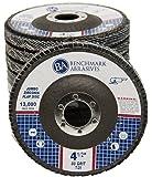 "4.5"" x 7/8"" Premium High Density Jumbo Zirconia Type 29 Flap Disc 80 Grit - 10 Pack"