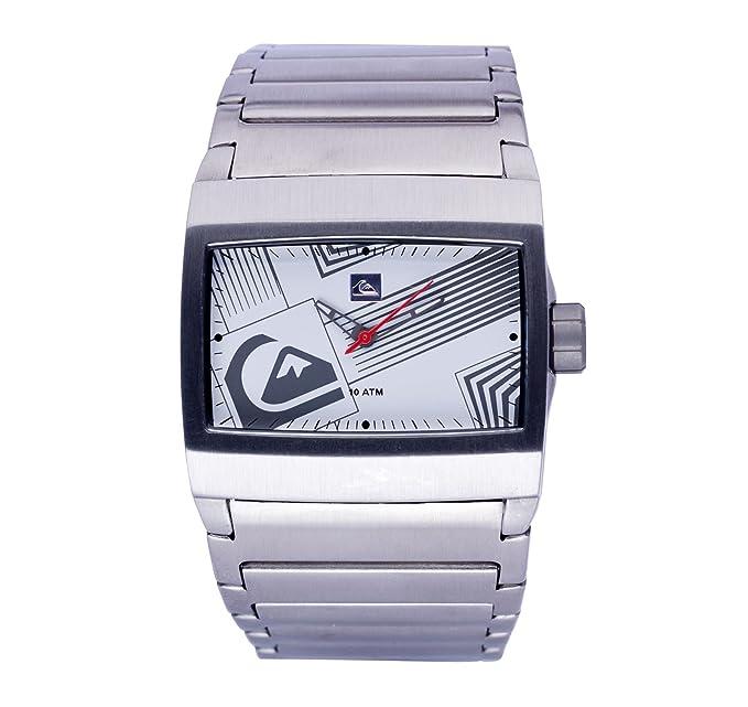 Quiksilver M145BF 57T - Reloj analógico de caballero de cuarzo con correa de acero inoxidable plateada