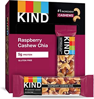 product image for KIND Bars Raspberry Cashew & Chia, Gluten Free, Oats & Honey, 12 Count (Pack of 12)