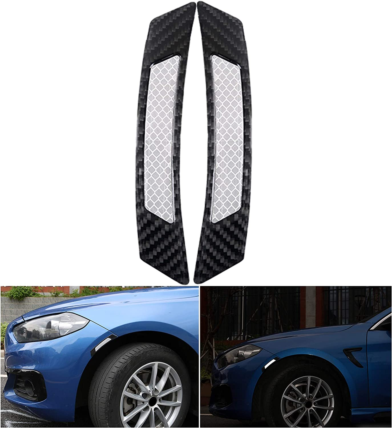 4x Red Carbon Fiber Safety Reflective Tapes Warning Car Door Sticker Accessory