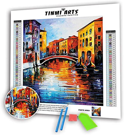TINMI ARTS-5D Diamond Painting Kits for Adults Full Round Mosaic Cross Stitch Kits Embroidery Kits Home Wall D/écor 12X20 Cat and Mouse