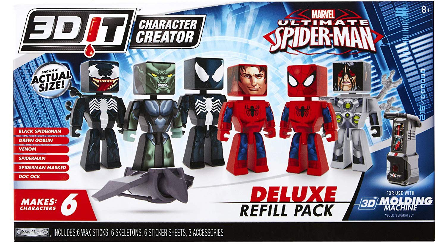 3D Character Creator Marvel Deluxe Refill Pack Novelty Toy
