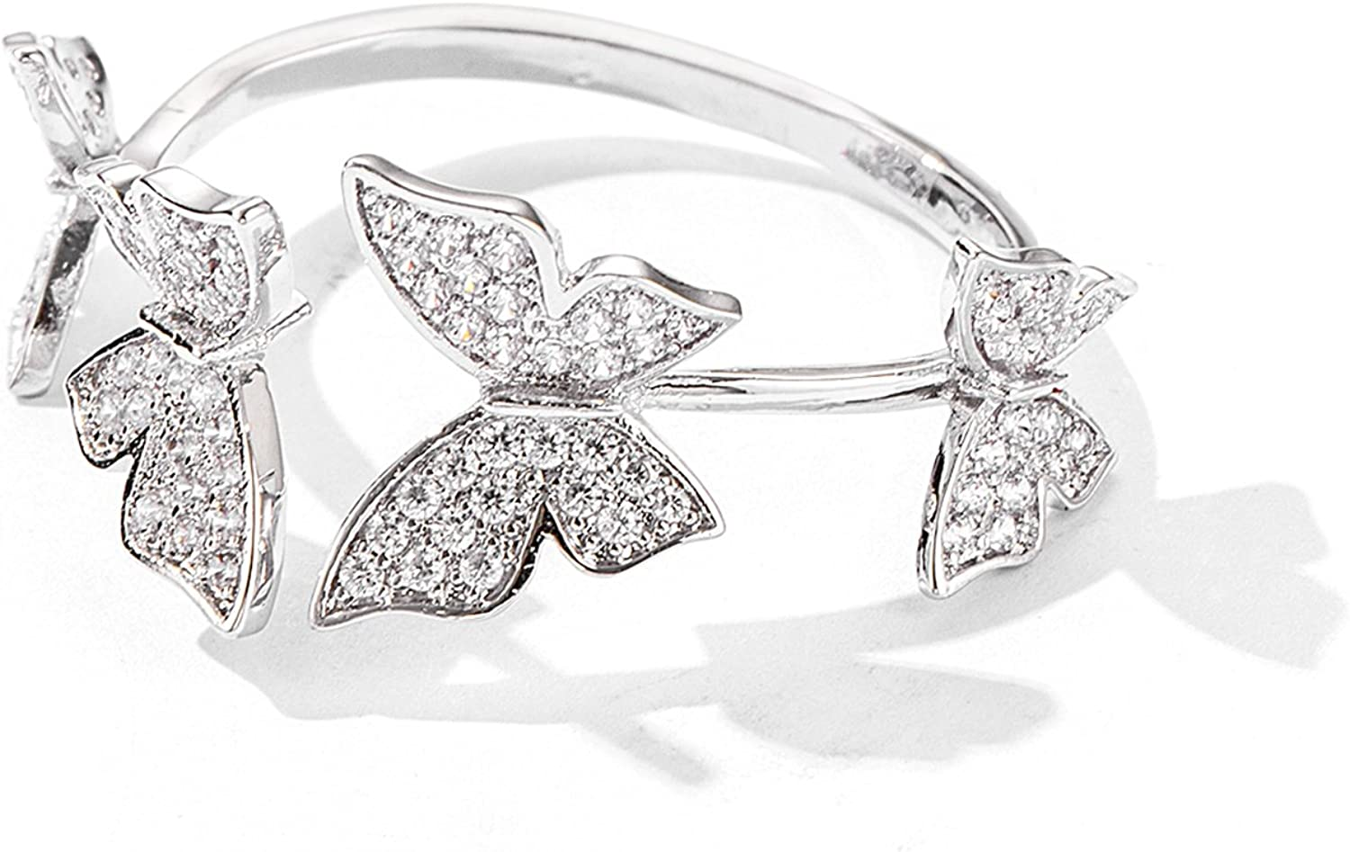 Ladies and Women Maggrilee Fashion Butterfly Extra Large Ring for Girls