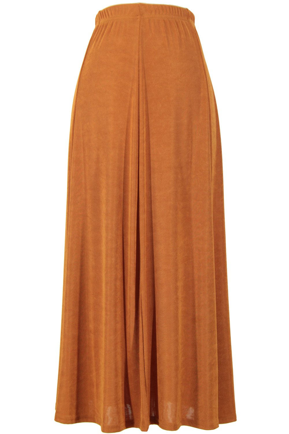 Jostar Acetate Flared Skirt in Rust Color in Large Size