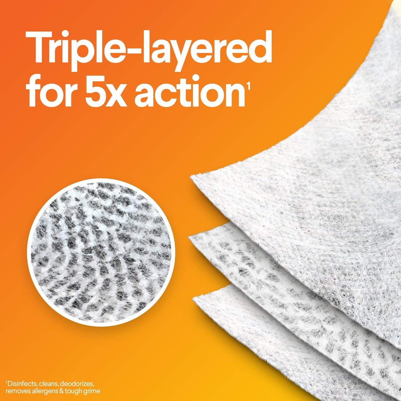 Crisp Lemon 70 Count Each Bleach Free Cleaning Wipes Pack of 3 Clorox Disinfecting Wipes with Micro-Scrubbers