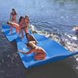Max4out Floating Mat Foam Lake Floats Floating Foam Pad (Blue/Yellow) Lily Pad for Water Recreation and Relaxing