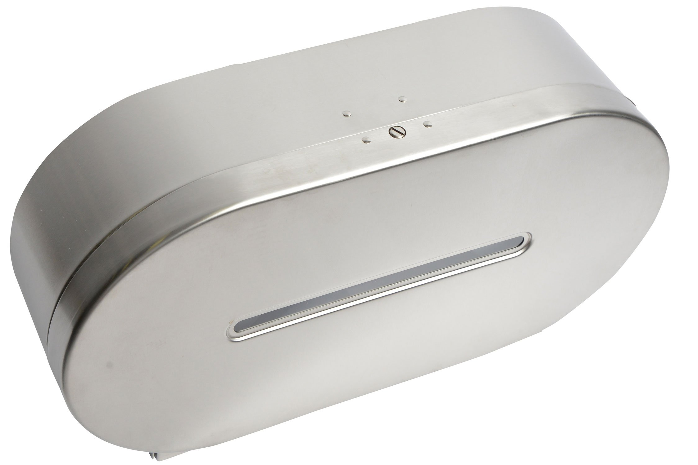 Janico 2513 Toilet Paper Dispenser, Double Roll Tissue Dispenser, Stainless Steel, Silver by Janico (Image #2)