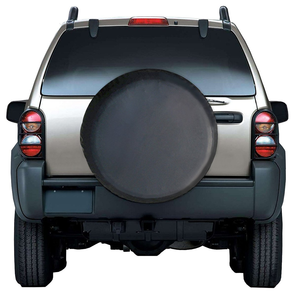 Audew Spare Tire Cover Soft Vinyl Water-Proof Wheel Tire Cover Universal Fit for Jeep SUV Trailer Truck 28 Black Truck 28 Black RV